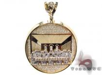 CZ 10K Gold Last Supper Pendant 33621 Gold Pendants