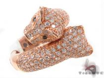 Ladies Diamond Pave Puma Ring Womens Diamond Rings