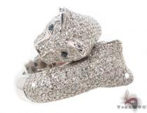 Ladies Diamond Pave Puma Ring 2 Womens Diamond Rings