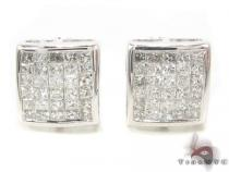 Invisible Diamond Earrings 33713 Mens Diamond Earrings