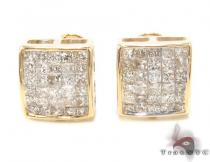 Invisible Diamond Earrings 33714 Mens Diamond Earrings