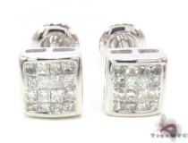 Invisible Diamond Earrings 33716 Mens Diamond Earrings