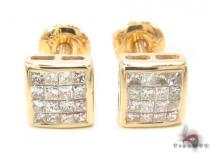 Invisible Diamond Earrings 33717 Mens Diamond Earrings