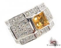 Prong Diamond Citrine Gemstone Ring Mens Diamond Rings