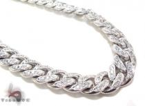 Prong Diamond Cuban Chain 32 Inches 13mm 347.1 Grams Diamond Chains