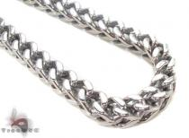 Stainless Steel Franco Chain 36 Inches, 8mm, 225.9 Grams Stainless Steel