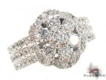 Prong Diamond Flower Ring 33879 Diamond Wedding Rings