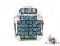 Ocean Blue Cube Single Earring 33965 Single Earrings