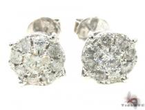 Prong Diamond Earrings 33968 Mens Diamond Earrings