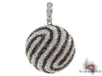 Prong Black and White Diamond Pendant 34026 Diamond Pendants