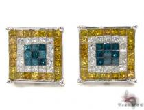 Invisible Diamond Earrings 34037 Mens Diamond Earrings