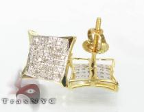 Yellow Gold SQ 2 Earrings Mens Diamond Earrings
