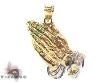 10K Gold Prayers Hands Pendant 34122 Gold Pendants