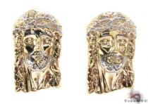 10K Gold Jesus Earrings 34152 Mens Gold Earrings