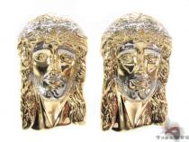 10K Gold Jesus Earrings 34156 Metal