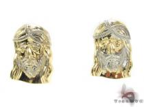 10K Gold Earrings 34164 Mens Gold Earrings