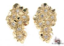 CZ 10K Gold Earrings 34180 Mens Gold Earrings