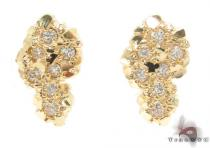 CZ 10K Gold Earrings 34181 Mens Gold Earrings