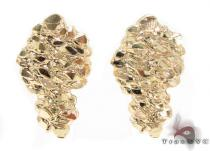 10K Gold Earrings 34183 Mens Gold Earrings