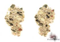 10K Gold Earrings 34184 Mens Gold Earrings