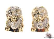 10K Gold Earrings 34186 Mens Gold Earrings