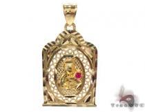 10K Gold Virgin Mary Pendant Metal