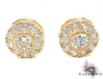 CZ 10K Gold Earrings 34222 Mens Gold Earrings
