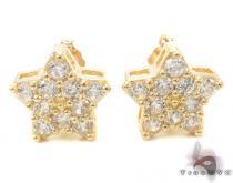 CZ 10K Gold Star Earrings 34226 レディース ゴールドイヤリング
