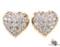 CZ 10K Gold Heart Earrings 34227 Metal