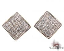 CZ 10K Gold Earrings 34231 Mens Gold Earrings