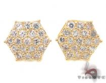 CZ 10K Gold Earrings 34235 Mens Gold Earrings