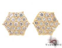 CZ 10K Gold Earrings 34235 ゴールドイヤリング