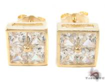 CZ 10K Gold Earrings 33238 Mens Gold Earrings