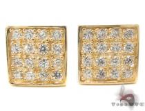 CZ 10K Gold Earrings 33239 Mens Gold Earrings
