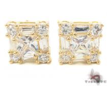 CZ 10K Gold Earrings 33240 Mens Gold Earrings