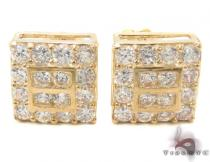 CZ 10K Gold Earrings 33241 Mens Gold Earrings