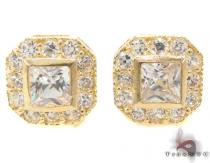 CZ 10K Gold Earrings 33242 Mens Gold Earrings