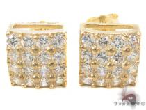 CZ 10K Gold Earrings 33243 Mens Gold Earrings