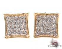 CZ 10K Gold Earrings 33246 Mens Gold Earrings