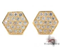 CZ 10K Gold Earrings 33247 Mens Gold Earrings