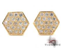 CZ 10K Gold Earrings 33247 ゴールドイヤリング