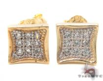 CZ 10K Gold Earrings 33248 Mens Gold Earrings