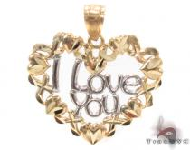 10k Two Tone Gold Charm 34279 Metal