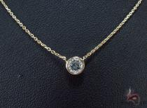 Bezel Diamond Necklace 34422 Diamond Necklaces