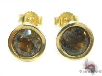 Lemon Quartz Yellow Gold Earrings 34496 Stone