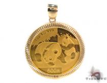 2008 Panda 1oz Gold Coin Pendant China 500Y Gold Pendants