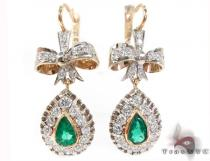 Valentine Emerald & Diamond Earrings Style