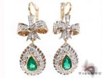 Valentine Emerald & Diamond Earrings ダイヤモンド シャンデリアイヤリング