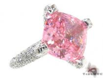 Pink CZ Diamond Ring 34568 Womens Diamond Rings