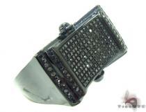 Prong Black Diamond Ring 34708 Mens Black Diamond Rings